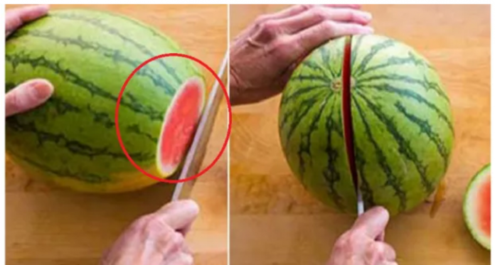 Cum se taie un pepene rosu
