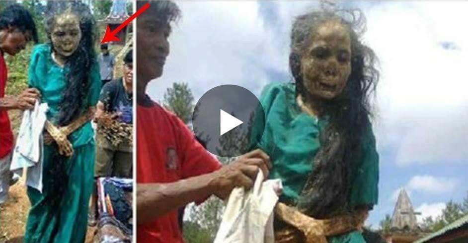 CAZ SOCANT! A fost scoasa din mormant dupa 3 ani si este inca vie, imaginile uimeste pe toata lumea! VIDEO..
