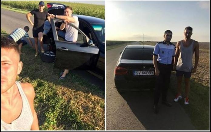 Șoferului i s-a stricat mașina din cauza unei gropi, în drum spre mare. După 5 ore un polițist din Călărași și-a oprit mașina de serviciu lângă el, dar ce a urmat a lăsat cu gura căscată o țară întreagă