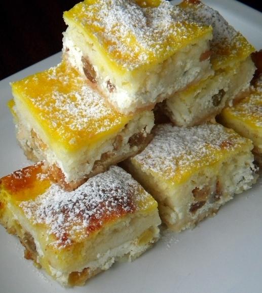 Usoară, rapidă si delicioasă! Perfectă pentru zilele de toamnă! Plăcintă cu brânză dulce şi stafide