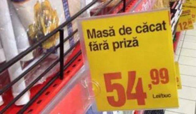 BA, esti nebun? Clientii au zis ca nu vad bine. Uite cele mai amuzante imagini din supermarketurile romanesti. MORI DE RAS!