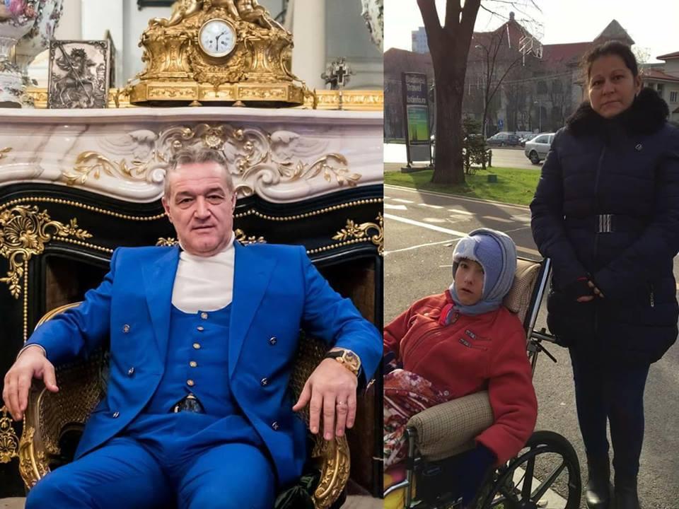 Această femeie împreună cu fiul ei, care se află într-un scaun cu rotile, a stat ore întregi în frig, în fața vilei lui Gigi Becali de pe Aleea Alexandru. Gestul făcut de milionar când i-a văzut: Mama băiatului a povestit totul:
