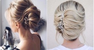 Coafuri elegante pentru nunta: coc frantuzesc si bucle prinse in coc in numai 10 minute