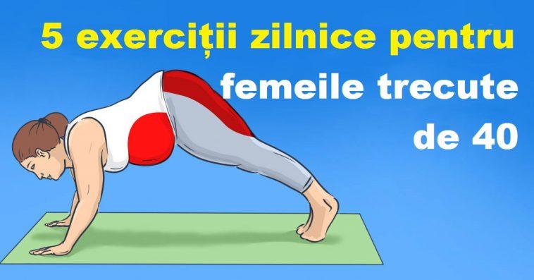 Obligatoriu pentru femeile trecute de 40 de ani – 5 exerciții care trebuie efectuate în fiecare zi