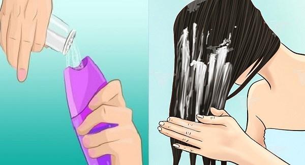 Pune sare in sampon inainte de a te spala pe par. Acest truc va rezolva o problema majora: