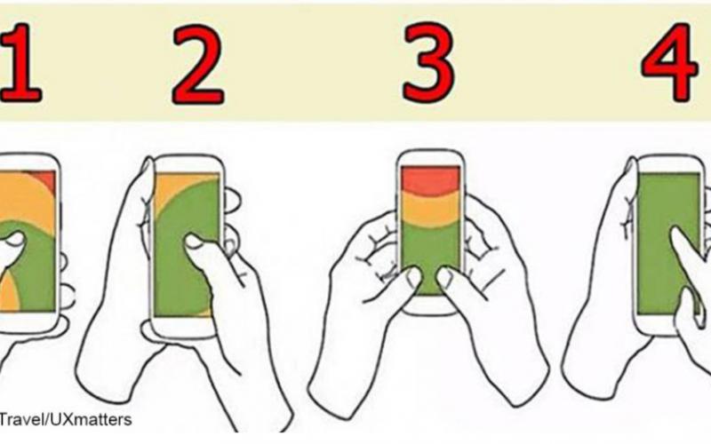 Felul în care țineți telefonul spune multe despre caracterul dvs. Care dintre imagini vi se potrivește? Uite ce dezvăluie asta: